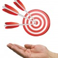 bigstock-Hand-And-Arrow-Target-White-4282917
